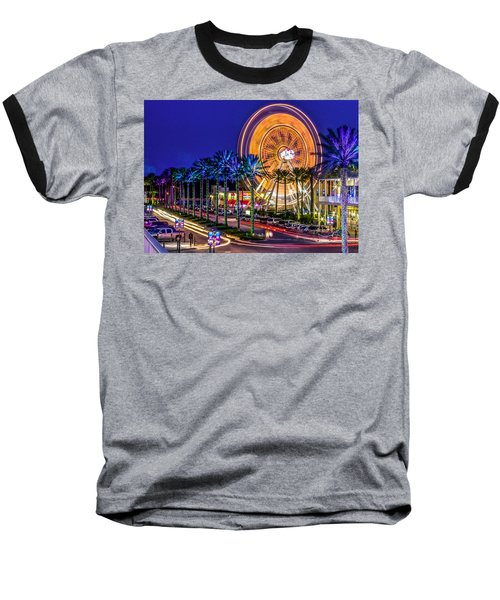 Ferris Wheel At The Wharf Baseball T-Shirt by Rob Sellers