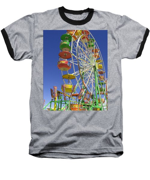 Baseball T-Shirt featuring the photograph Ferris Wheel by Marcia Socolik