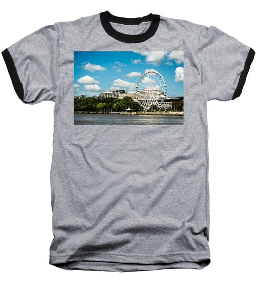 Ferris Wheel On The Brisbane River Baseball T-Shirt
