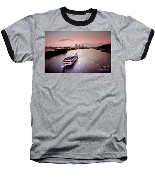 Ferry Boat At The Point In Pittsburgh Pa Baseball T-Shirt