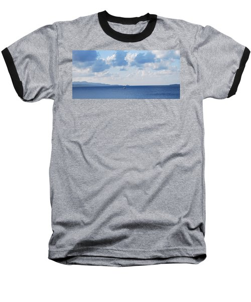 Ferry On Time Baseball T-Shirt by George Katechis