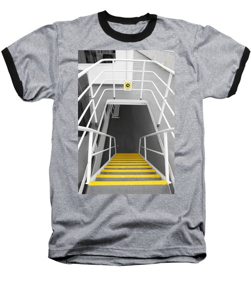Baseball T-Shirt featuring the photograph Ferry Stairwell by Marilyn Wilson