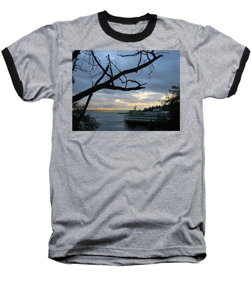 Ferryboat To Seattle  Baseball T-Shirt by Kym Backland
