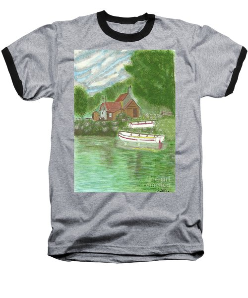 Ferryman's Cottage Baseball T-Shirt by Tracey Williams