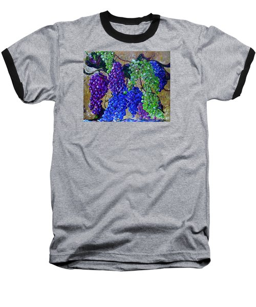 Baseball T-Shirt featuring the painting Festival Of Grapes by Eloise Schneider