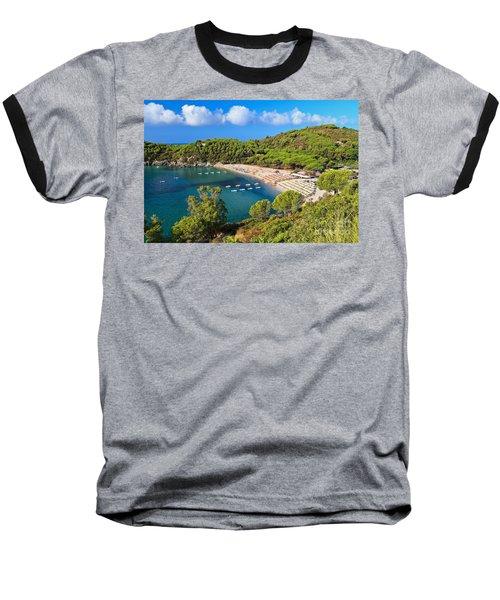 Fetovaia Beach - Elba Island Baseball T-Shirt by Antonio Scarpi