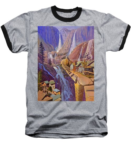 Baseball T-Shirt featuring the painting Fibonacci Stairs by Art James West