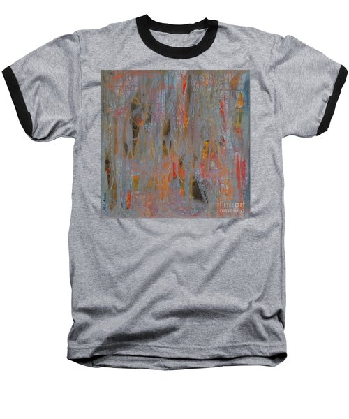 Baseball T-Shirt featuring the painting Fibres Of My Being by Mini Arora