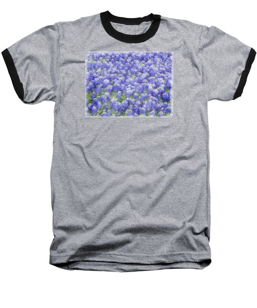 Baseball T-Shirt featuring the photograph Field Of Bluebonnets by Kathy Churchman