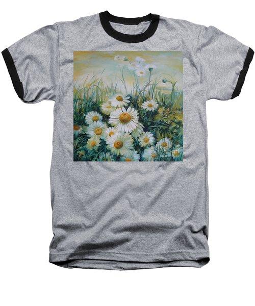 Field Of Flowers Baseball T-Shirt by Elena Oleniuc