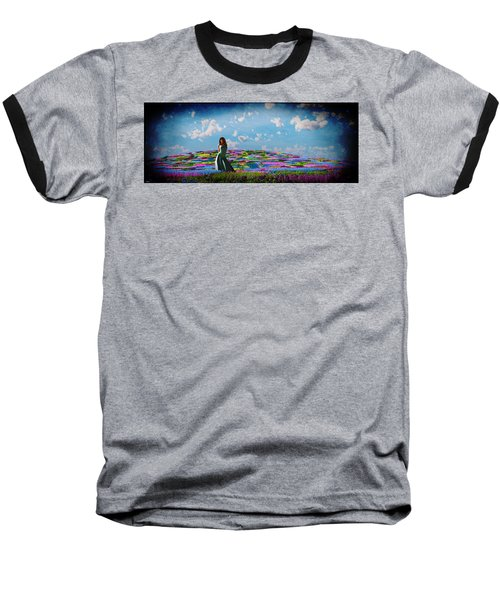 Field Of Flowers... Baseball T-Shirt by Tim Fillingim