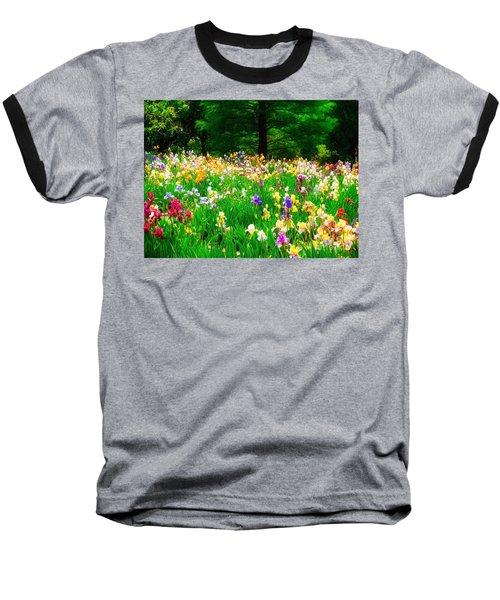 Field Of Iris Baseball T-Shirt