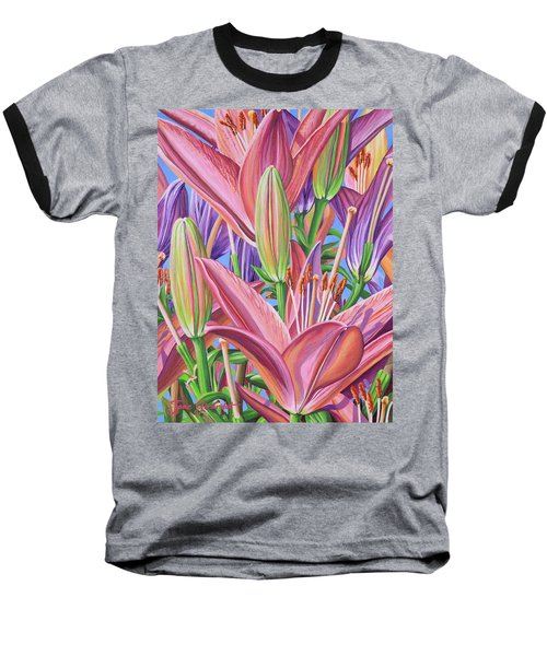 Field Of Lilies Baseball T-Shirt