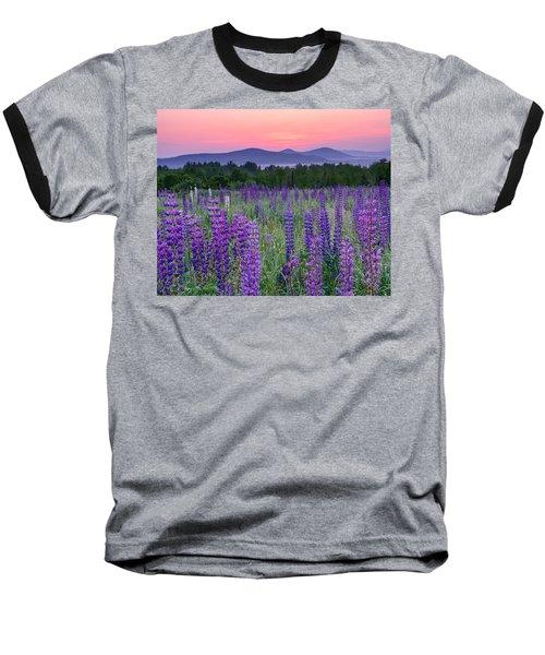 Field Of Purple Baseball T-Shirt