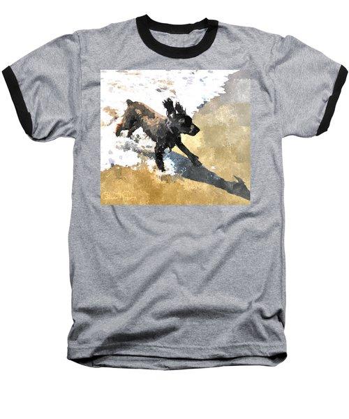 Field Spaniel Joy Baseball T-Shirt by Susan Molnar