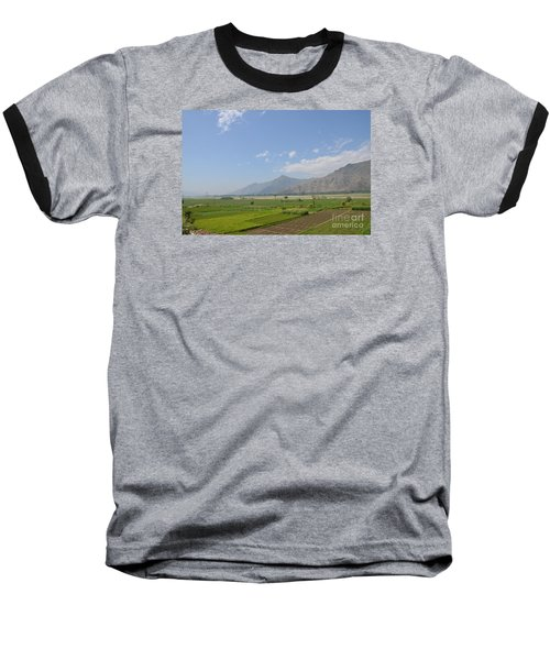 Baseball T-Shirt featuring the photograph Fields Mountains Sky And A River Swat Valley Pakistan by Imran Ahmed