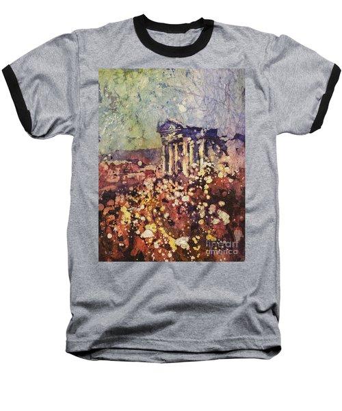 Fields Of Flower- And Roman Temple Baseball T-Shirt