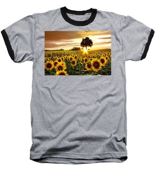 Fields Of Gold Baseball T-Shirt by Debra and Dave Vanderlaan