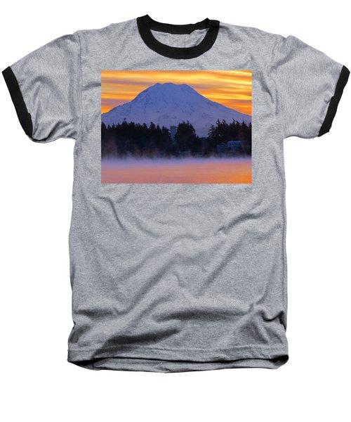 Fiery Dawn Baseball T-Shirt by Tikvah's Hope
