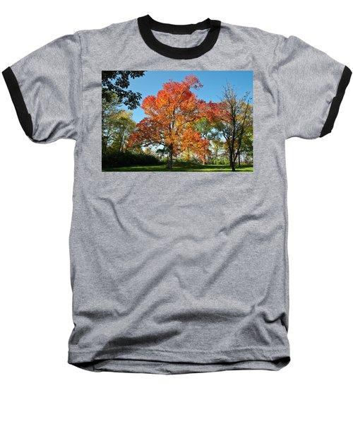 Fiery Fall Baseball T-Shirt