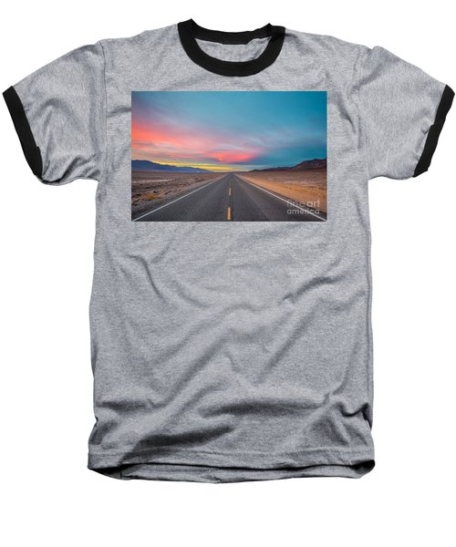 Fiery Road Though The Valley Of Death Baseball T-Shirt