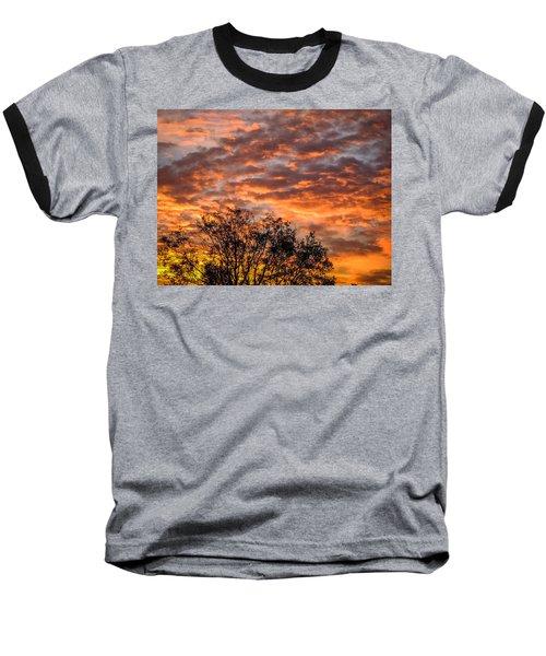 Fiery Sunrise Over County Clare Baseball T-Shirt