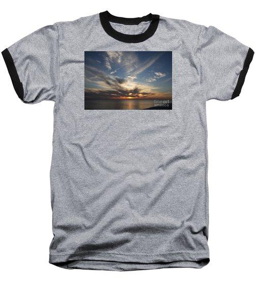 Fiery Sunset Skys Baseball T-Shirt by Christiane Schulze Art And Photography