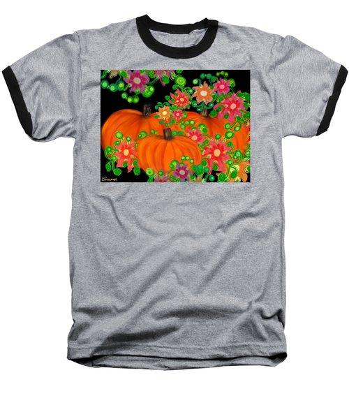 Fiesta Pumpkins Baseball T-Shirt by Christine Fournier