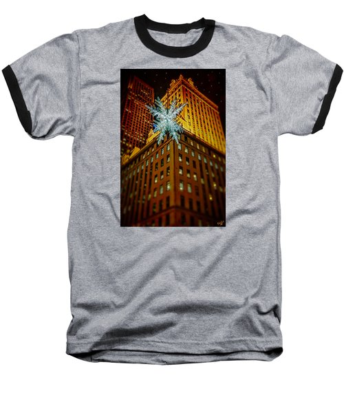 Baseball T-Shirt featuring the photograph Fifth Avenue Holiday Star by Chris Lord
