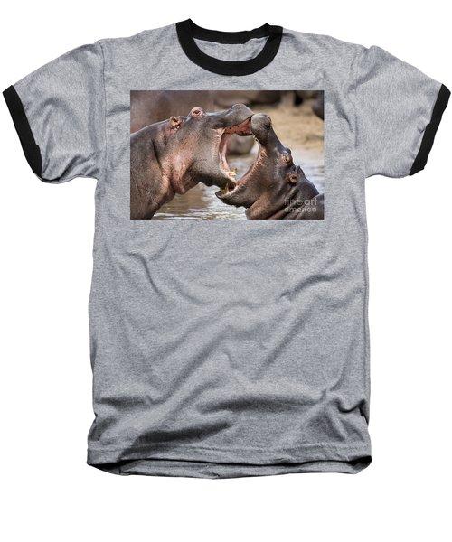 Fighting Hippos Baseball T-Shirt