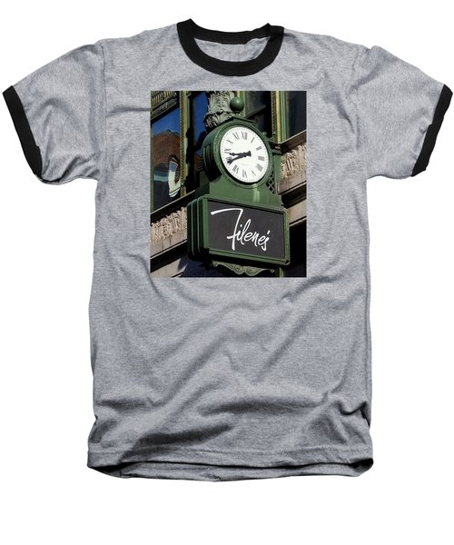 Filene's Basement Clock Baseball T-Shirt