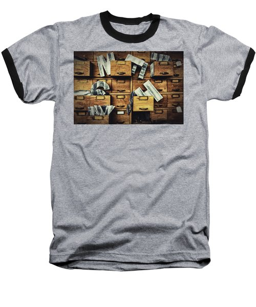 Filing System Baseball T-Shirt