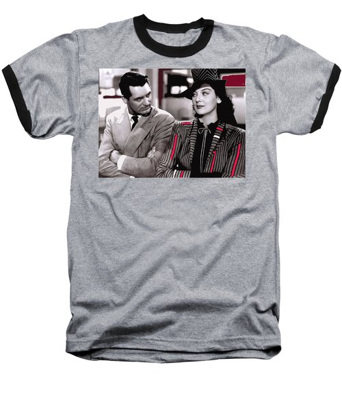 Film Homage Cary Grant Rosalind Russell Howard Hawks His Girl Friday 1940-2008 Baseball T-Shirt