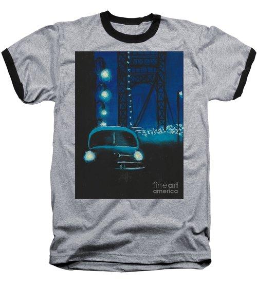 Film Noir In Blue #1 Baseball T-Shirt