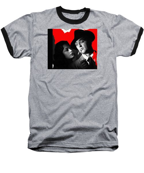 Film Noir Jane Greer Robert Mitchum Out Of The Past 1947 Rko Color Added 2012 Baseball T-Shirt