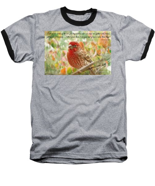 Finch With Verse New Version Baseball T-Shirt