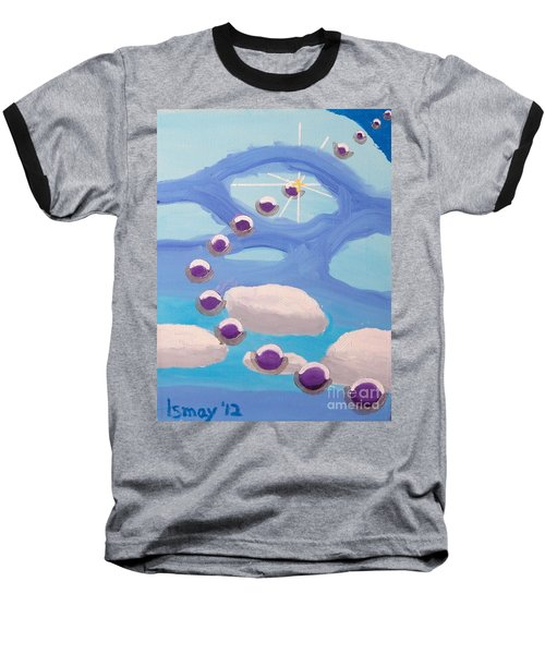 Baseball T-Shirt featuring the painting Finding Personal Peace by Rod Ismay