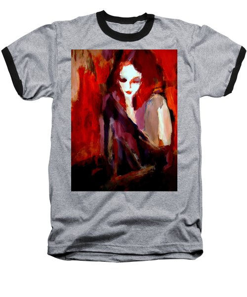 Baseball T-Shirt featuring the painting Finesse by Helena Wierzbicki