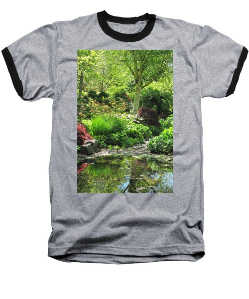 Finnerty Gardens Pond Baseball T-Shirt