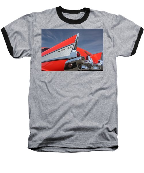 Fintastic '57 Chevy Baseball T-Shirt by Kevin McCarthy