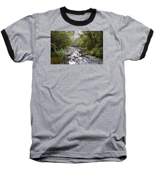 Fiordland National Park New Zealand Baseball T-Shirt by Venetia Featherstone-Witty