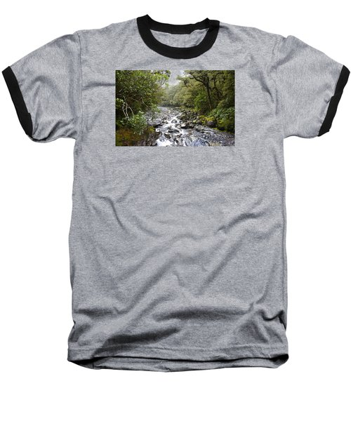 Fiordland National Park New Zealand Baseball T-Shirt