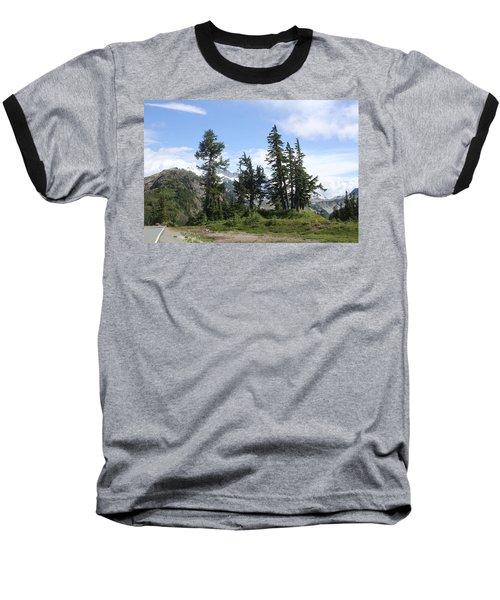 Baseball T-Shirt featuring the photograph Fir Trees At Mount Baker by Tom Janca