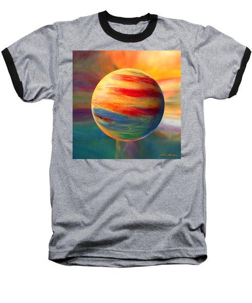 Fire And Ice Ball  Baseball T-Shirt