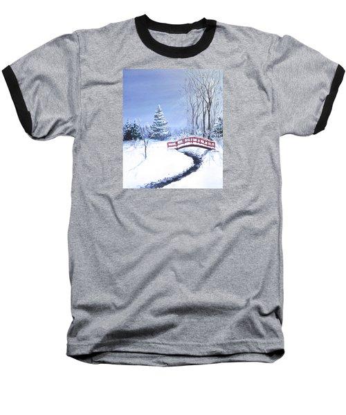 Fire And Ice Baseball T-Shirt