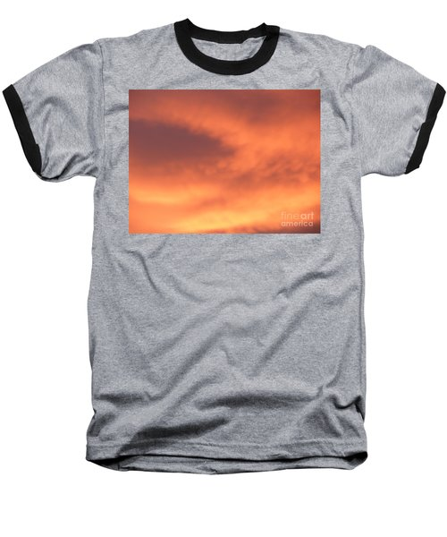 Fire Clouds Baseball T-Shirt