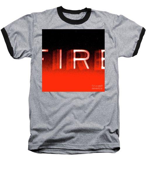 Fire Baseball T-Shirt by CML Brown
