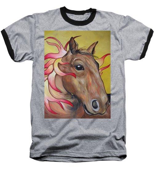 Fire Horse Baseball T-Shirt