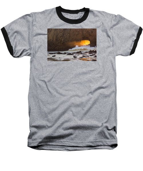 Fire In The Hole Baseball T-Shirt by Suzanne Luft