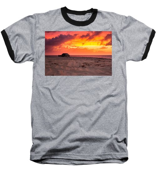 Fire In The Sky Baseball T-Shirt by Brian Caldwell